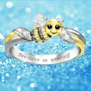 """Jewelry - 🎈 10/$30 Silver bee ring """"bee-lieve in yourself"""""""